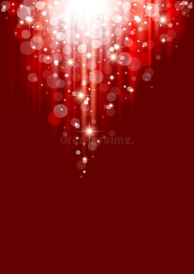Abstracción roja de la Navidad stock de ilustración