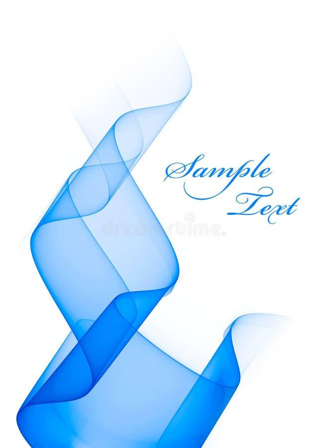 Abstracción translúcida azul en el fondo blanco stock de ilustración
