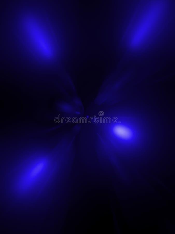 Abstracción, un túnel del azul en un fondo negro imagen de archivo libre de regalías