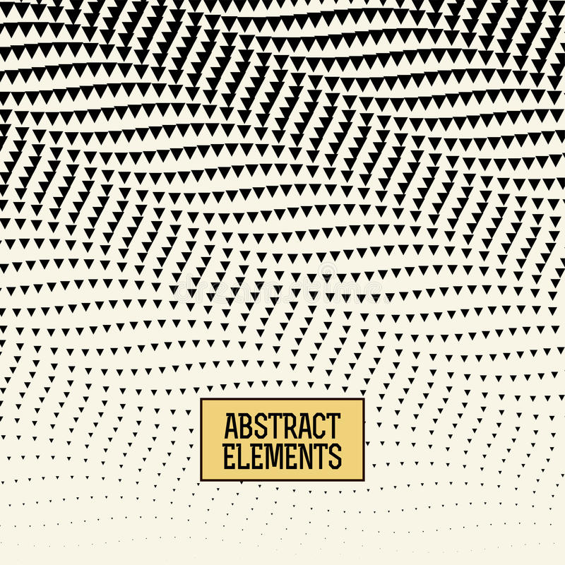 Abstracet geometric halftone triangle trippy pattern background stock illustration