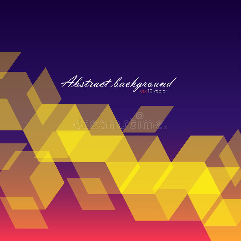 Abstrack background of yellow hexagons stock illustration