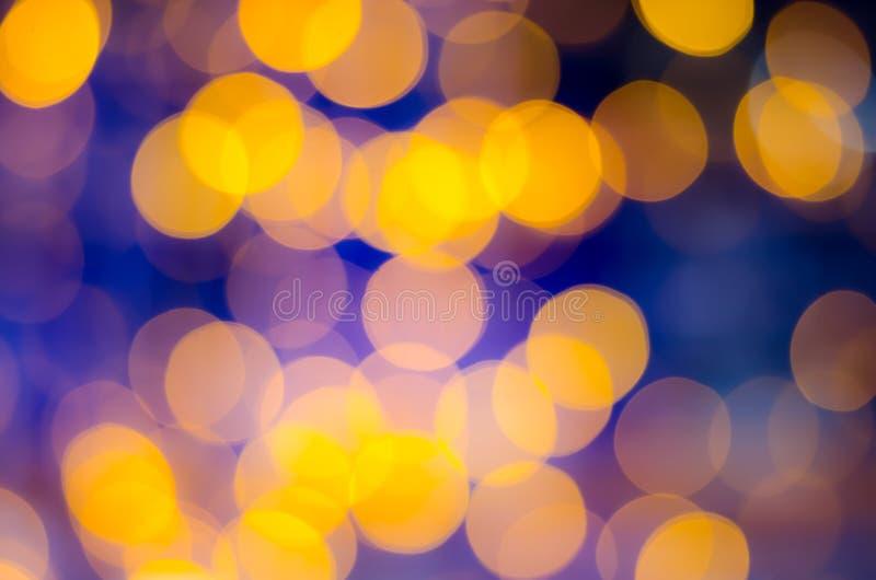 Abstrack bokeh na żółtym błękitnym tle zdjęcie stock