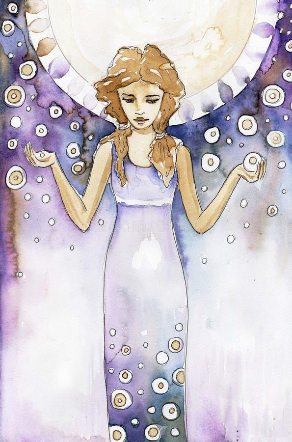 Abstrack woman stock illustration