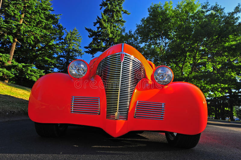 Abstract of a 1936 Hot Rod stock photography
