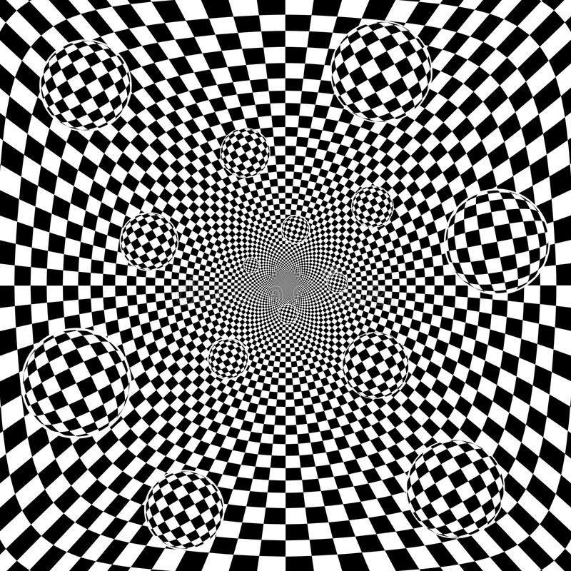 Download Abstract 3d Black And White Chess Pattern Backgrou Stock Vector - Image: 25988705