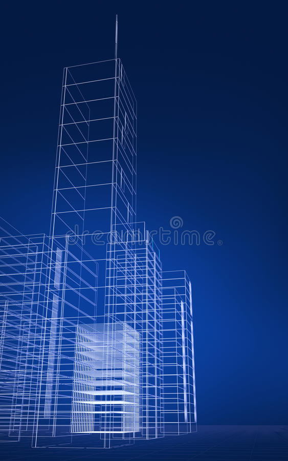 Download Abstract 3D city stock illustration. Image of architecture - 12427093