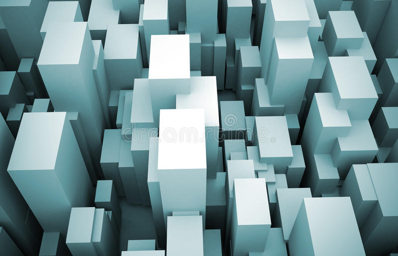 Download Abstract 3d City Blocks Rising Stock Illustration - Image: 18146378
