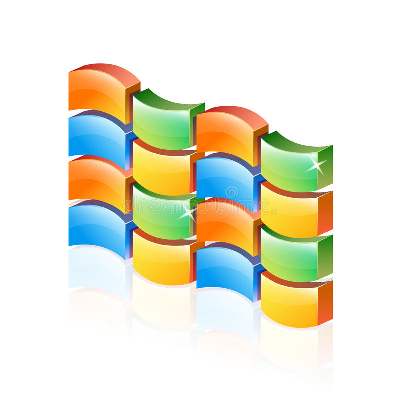 Download Abstract 3d Colorful Firewall Stock Illustration - Image: 28270365