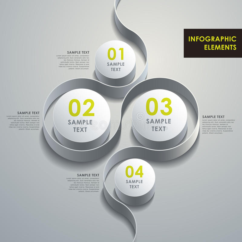 Free Abstract 3d Cylinder Infographics Stock Photography - 35468612