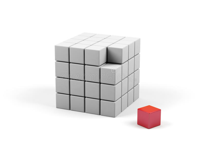 Download Abstract 3d Illustration Of Cube. Stock Illustration - Image: 13215505