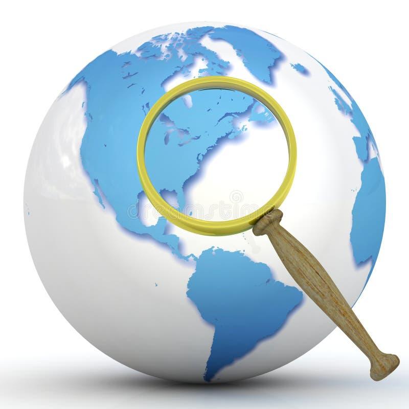 Abstract 3d illustration of earth globe vector illustration