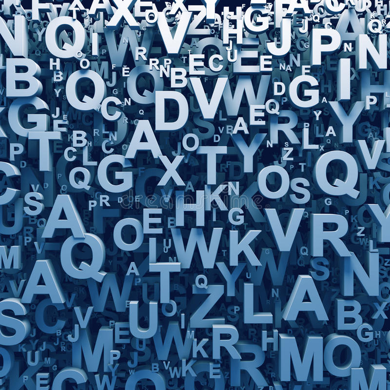 Free Abstract 3D Letters Background Royalty Free Stock Photo - 32615875