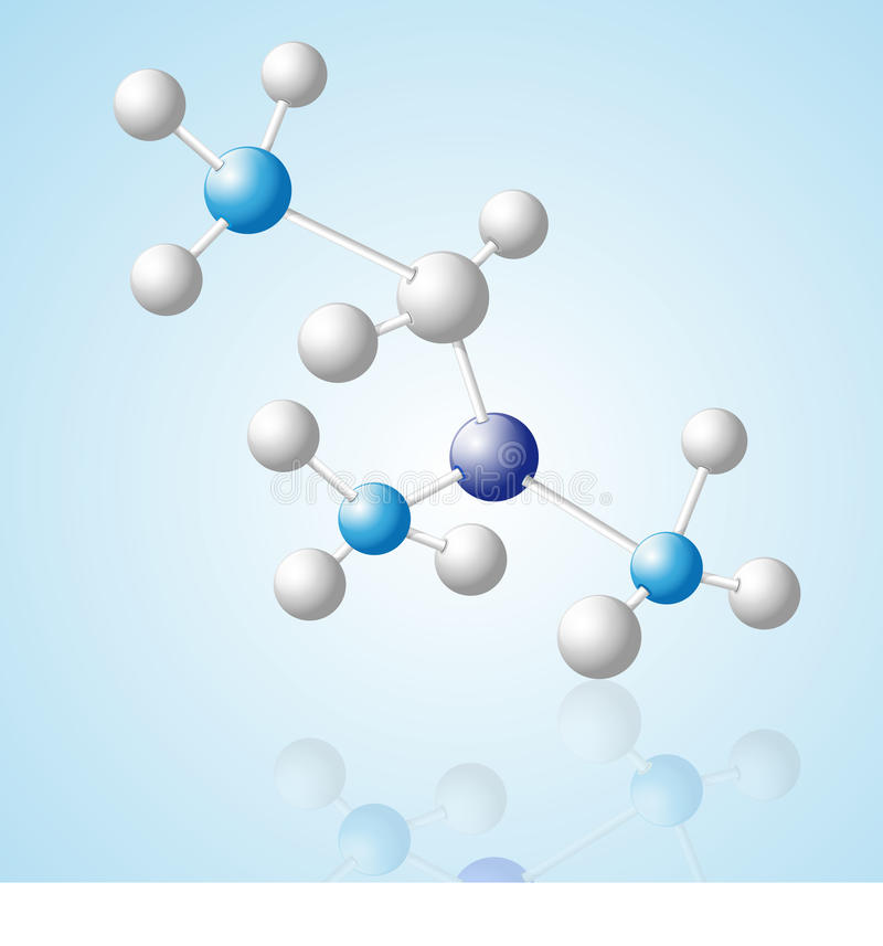 Download Abstract 3D Molecular Model Stock Vector - Image: 11648153