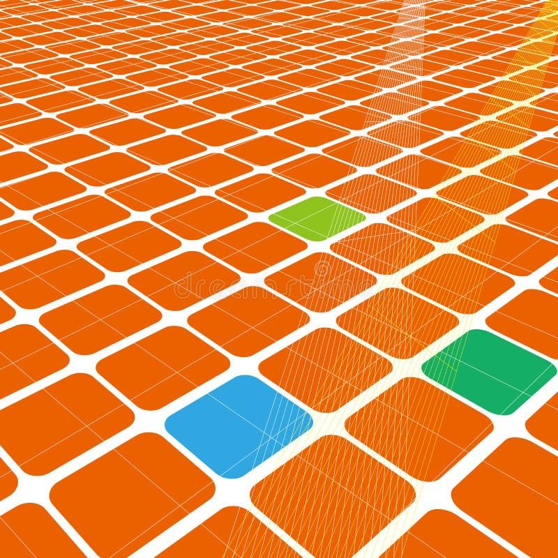 Abstract 3d oneindig net   royalty-vrije stock afbeelding