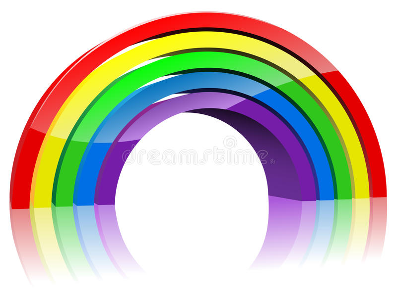 Abstract 3D rainbow royalty free illustration