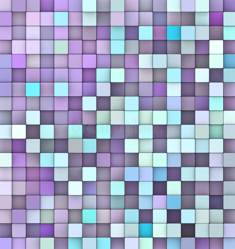 Abstract 3d render backdrop in purple blue royalty free illustration