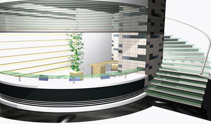 Abstract 3D rendering vector illustration