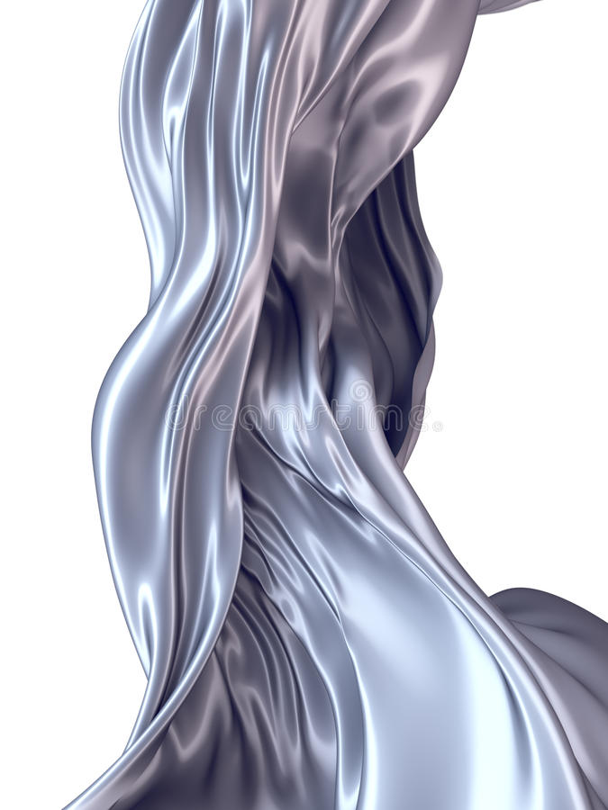 Free Abstract 3d Rendering Flowing Silver Cloth Royalty Free Stock Photography - 92164707