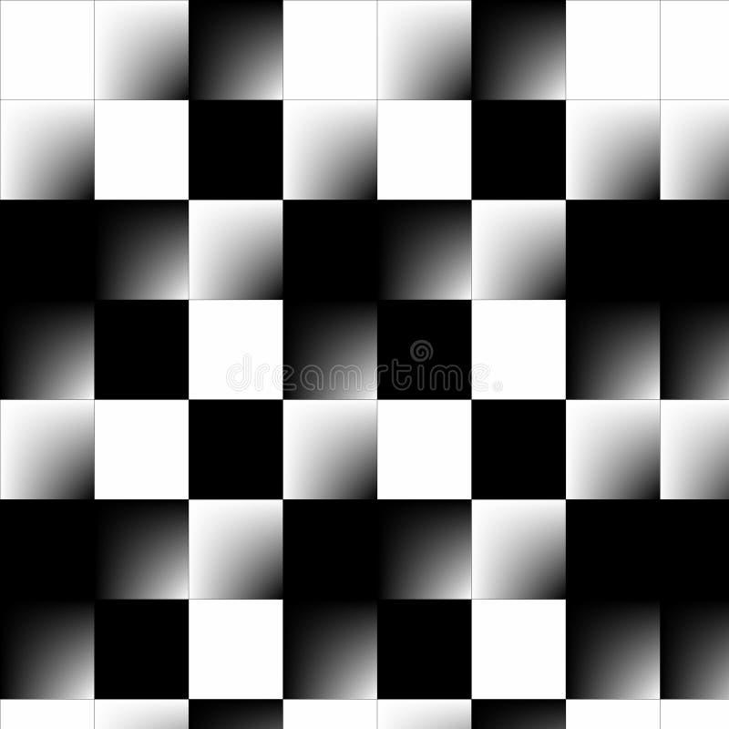 Abstract 3d Schaakbord royalty-vrije illustratie