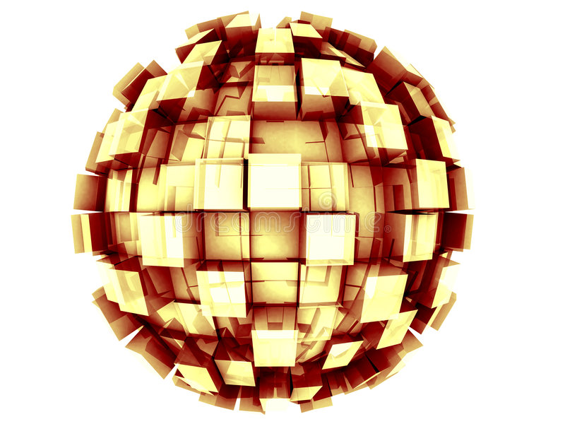 Download Abstract 3d Sphere stock illustration. Image of structure - 4967972