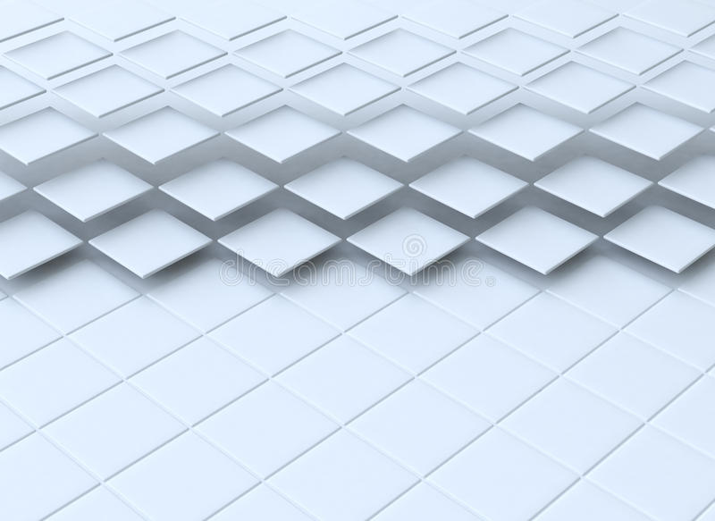 Abstract 3d squares stock images