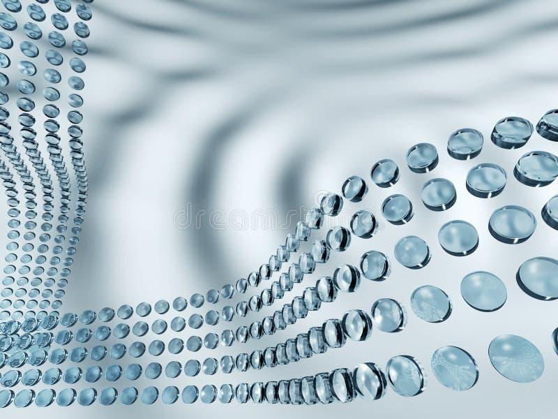 Download Abstract 3d waves stock illustration. Illustration of circular - 11886555