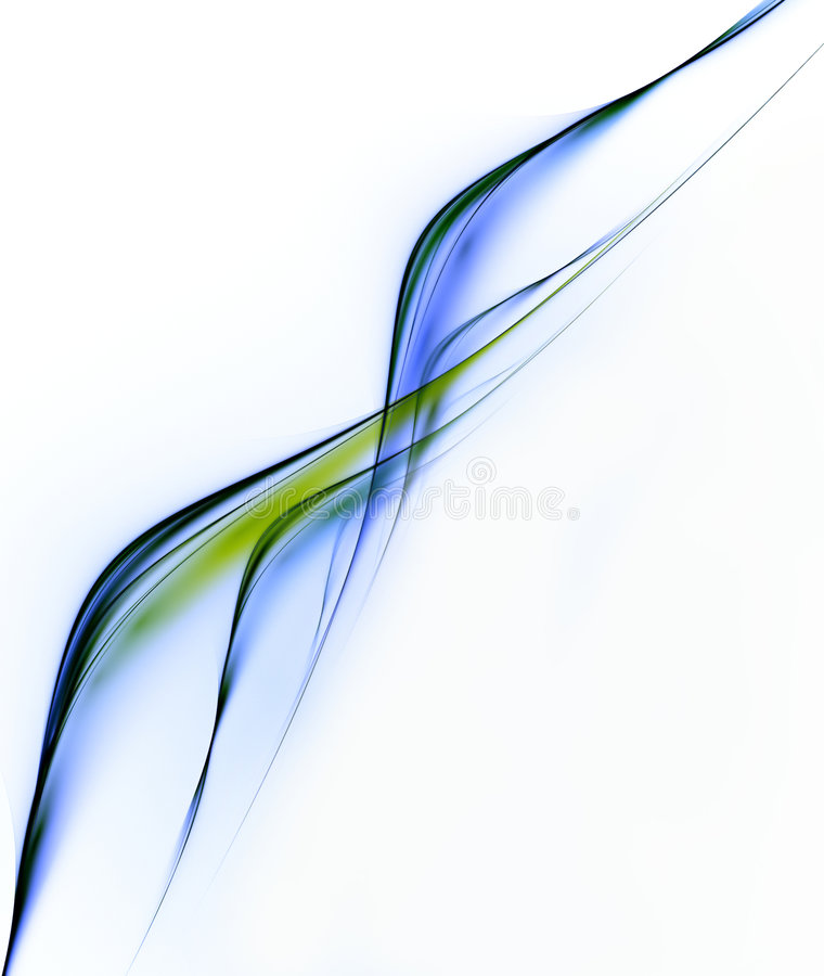 Abstract. Blue fractal. Abstraction. Multi-coloured structure vector illustration
