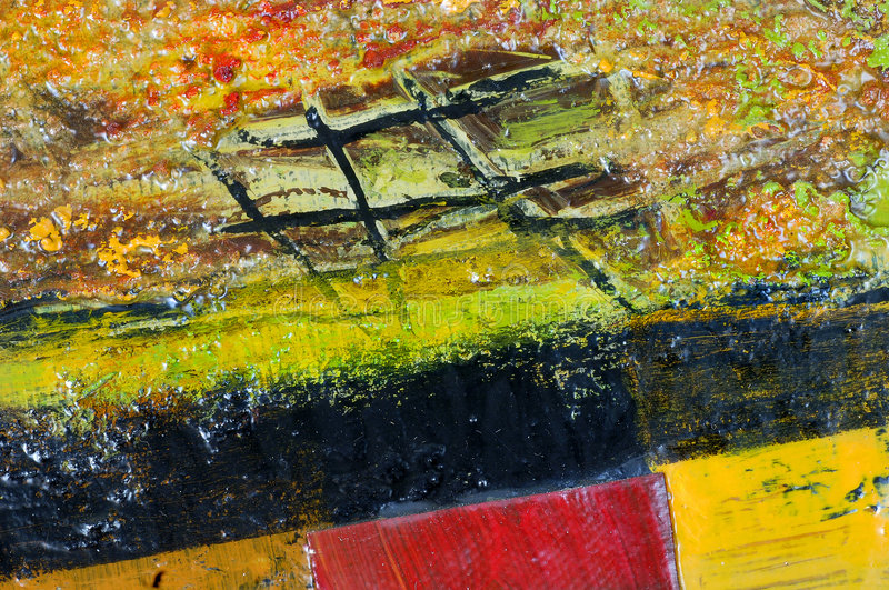 Abstract 6. Macro Section Of Abstract Oil Painting royalty free stock photography