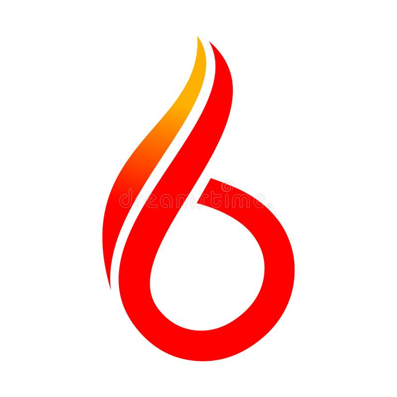 Free Abstract 6 Fire Symbol Logo Graphic Design Stock Images - 108725324