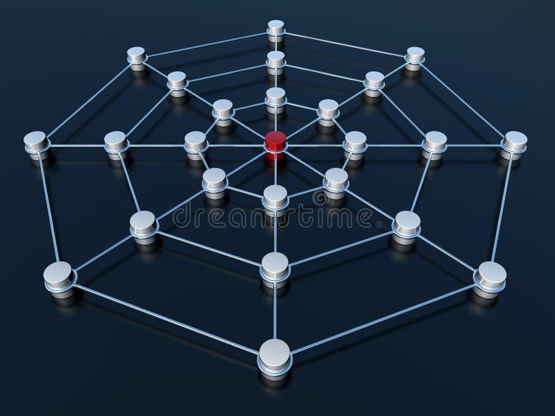 Abstract aansluting netwerk stock illustratie