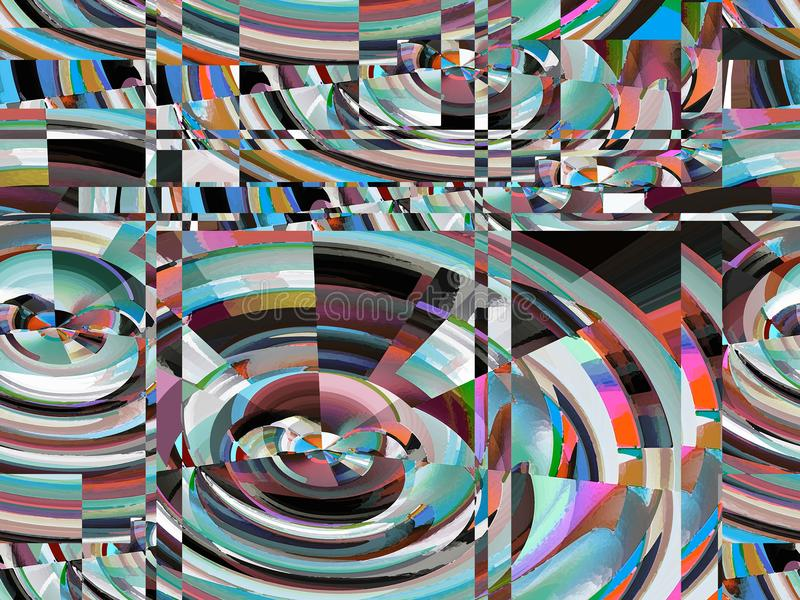Attractive abstraction and design. Graphic arts and art. Abstract Abstraction Art Design Styling Imagination Graphic Dynamic Harmony Inspiration Fantasy Modern royalty free illustration