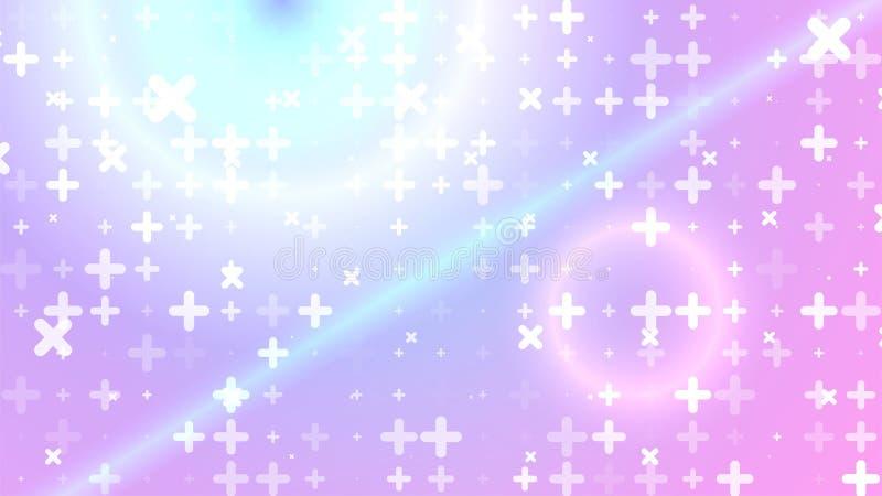 Abstract achtergrond De witte deeltjes van de abstractie op gradiënt royalty-vrije illustratie
