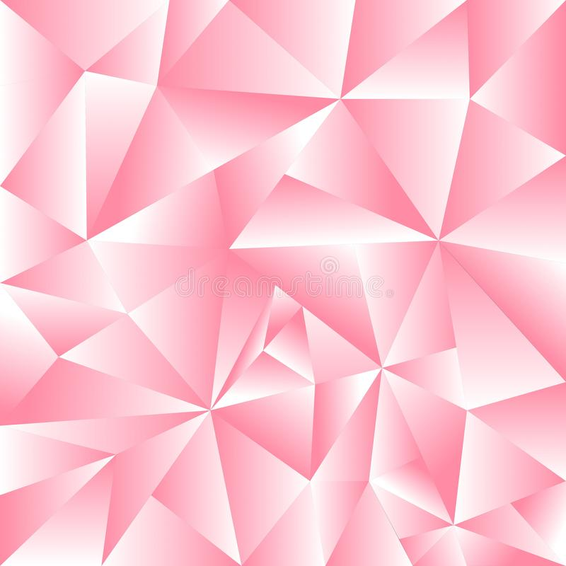 Abstract achtergrond roze driehoeksgebruik als achtergrond vector illustratie