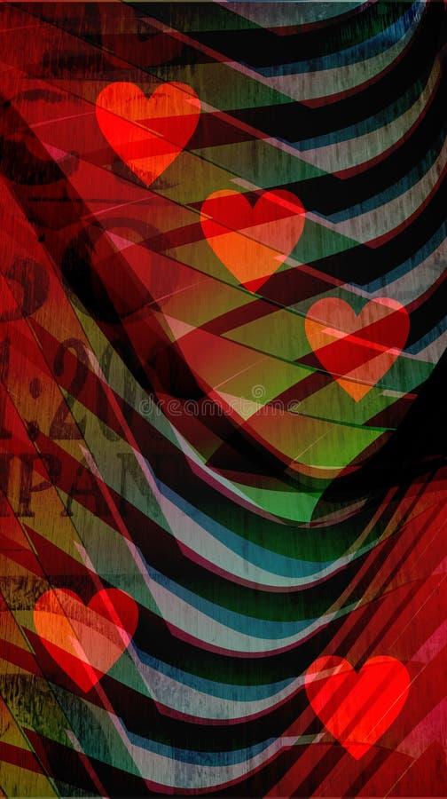 Abstract achtergrondhart mobiel behang royalty-vrije illustratie