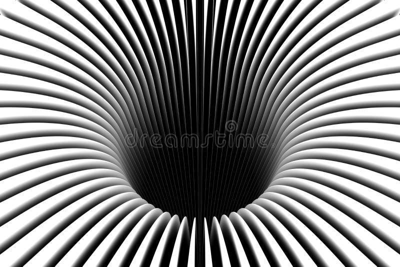 Abstract achtergrondlijnen zwart gat stock illustratie