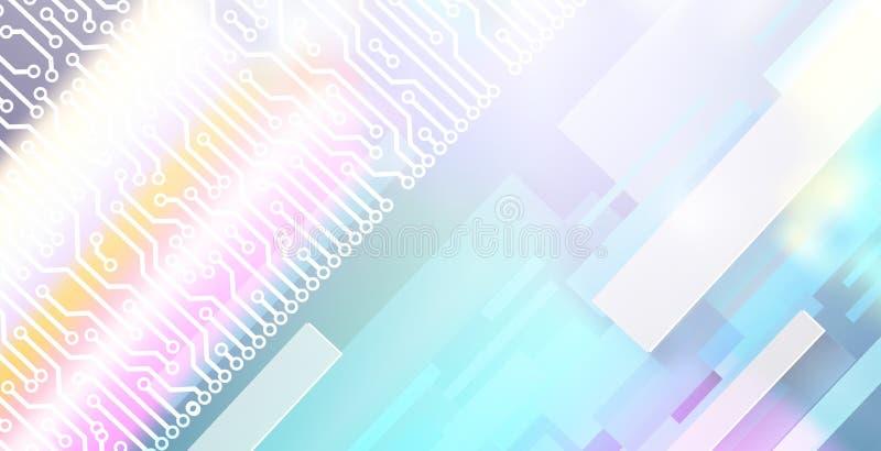 Abstract achtergrondtechnologiethema met rechthoekenvormen royalty-vrije stock fotografie