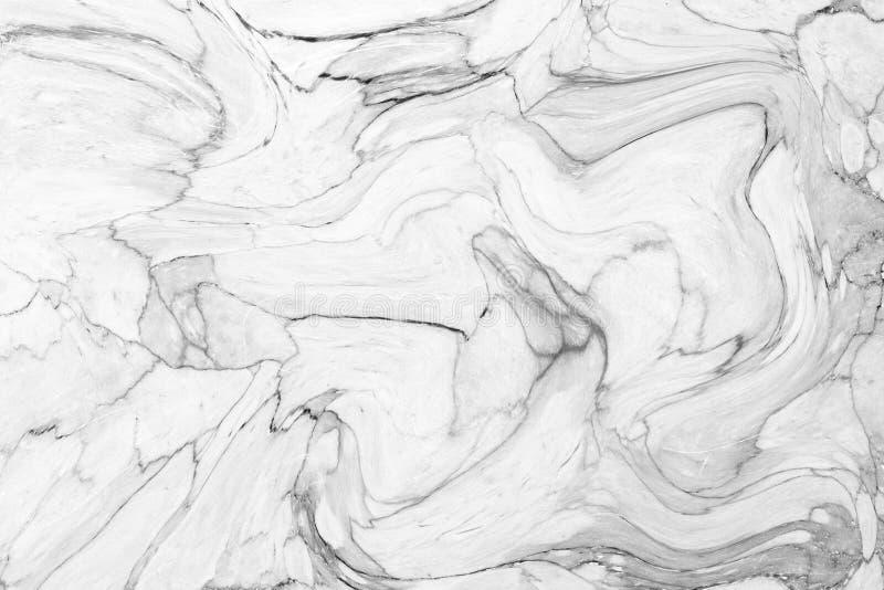 Abstract acrylgolfpatroon, Witte marmeren backgrou van de inkttextuur royalty-vrije stock foto's