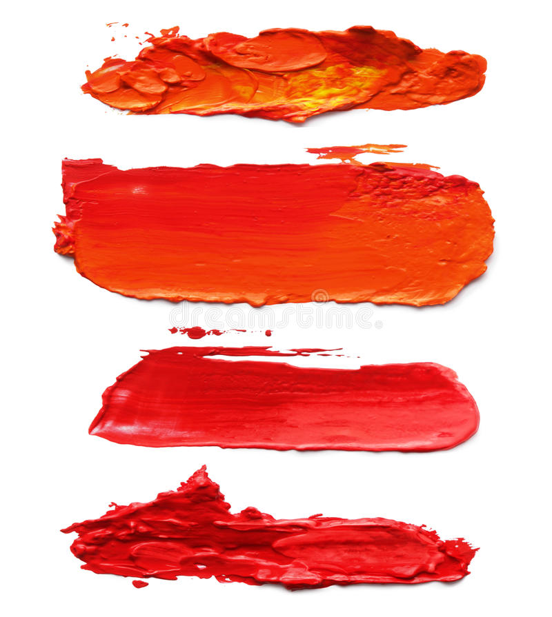 Abstract acrylic brush strokes. stock photography