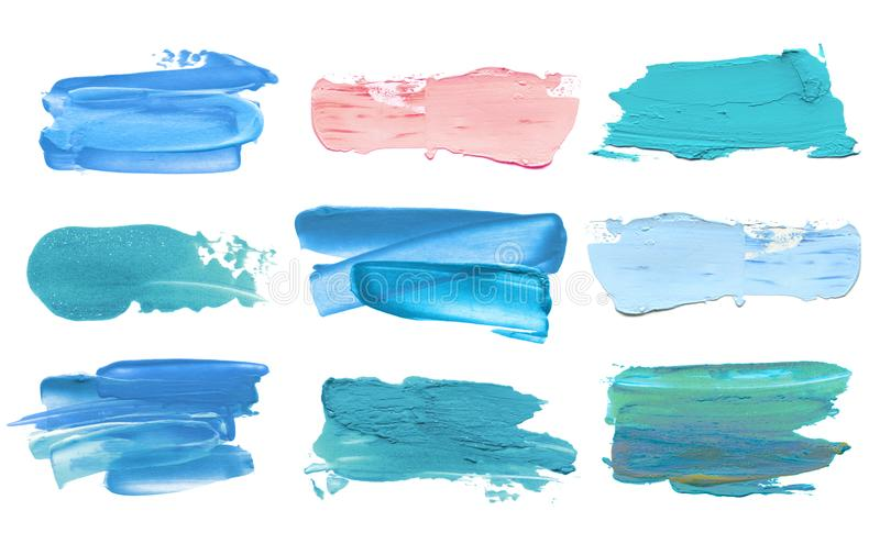 Abstract acrylic color brush stroke. Isolated. royalty free stock image