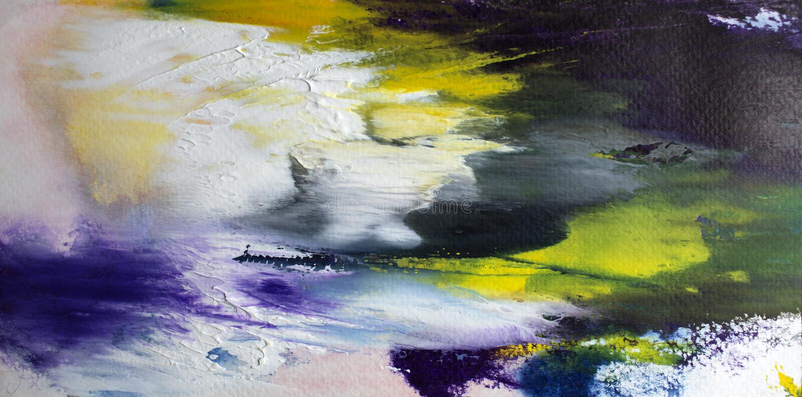 Abstract acrylic modern contemporary art ywhite explosion royalty free stock photography
