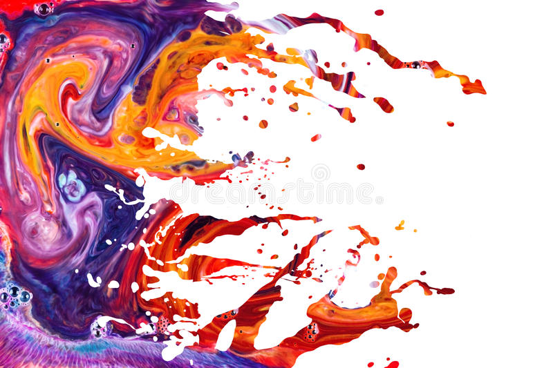 Abstract acrylic paint splash background royalty free stock image