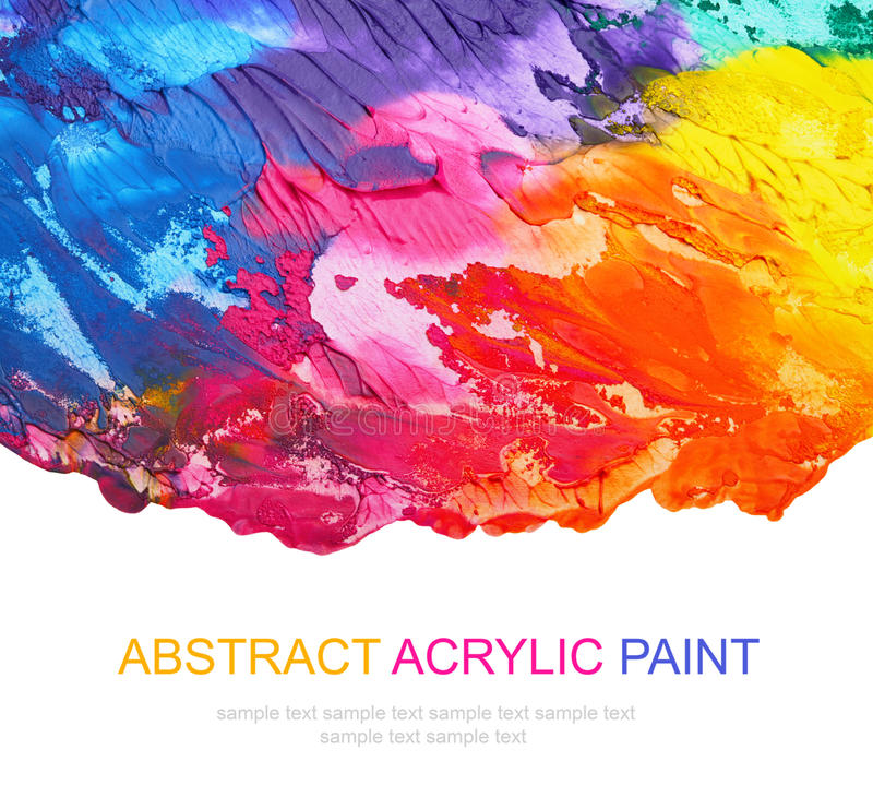 Abstract acrylic painted background. Isolated royalty free stock photos