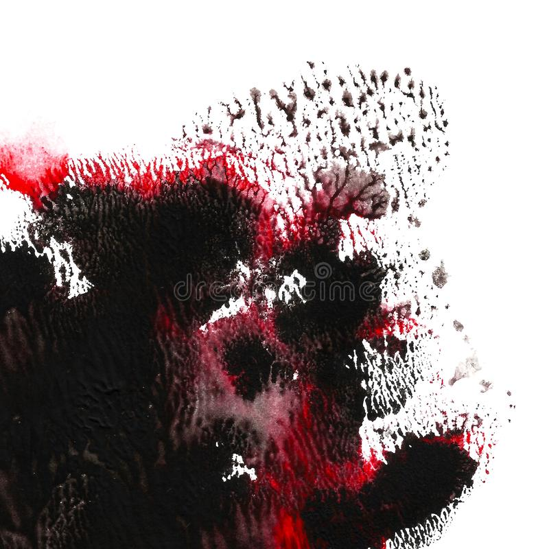 Abstract acrylic painted background. Black, red textured vibrant color. Grunge template for your design. stock illustration