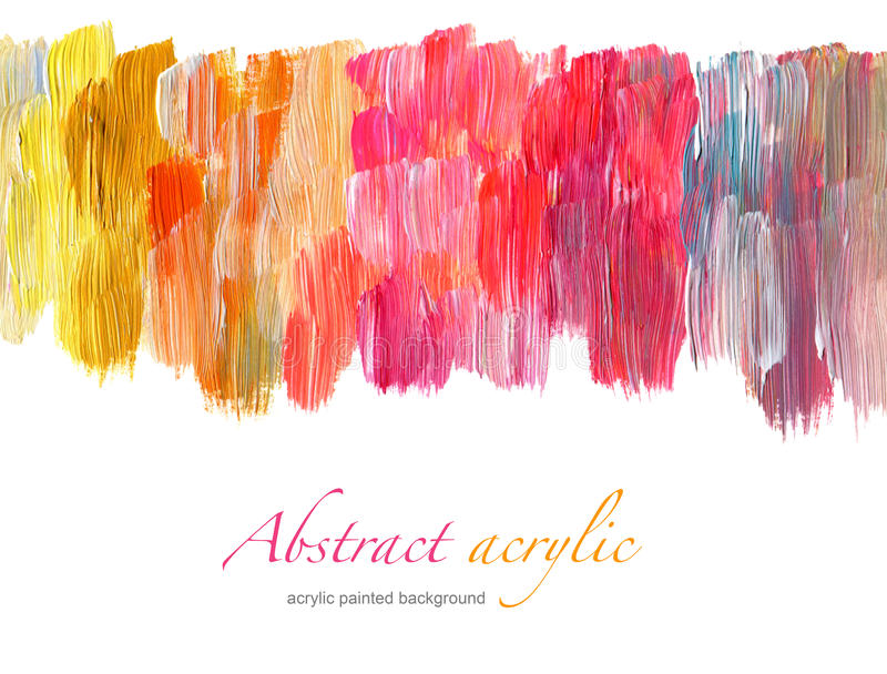 Abstract acrylic painted background. Abstract acrylic hand painted background royalty free stock photos