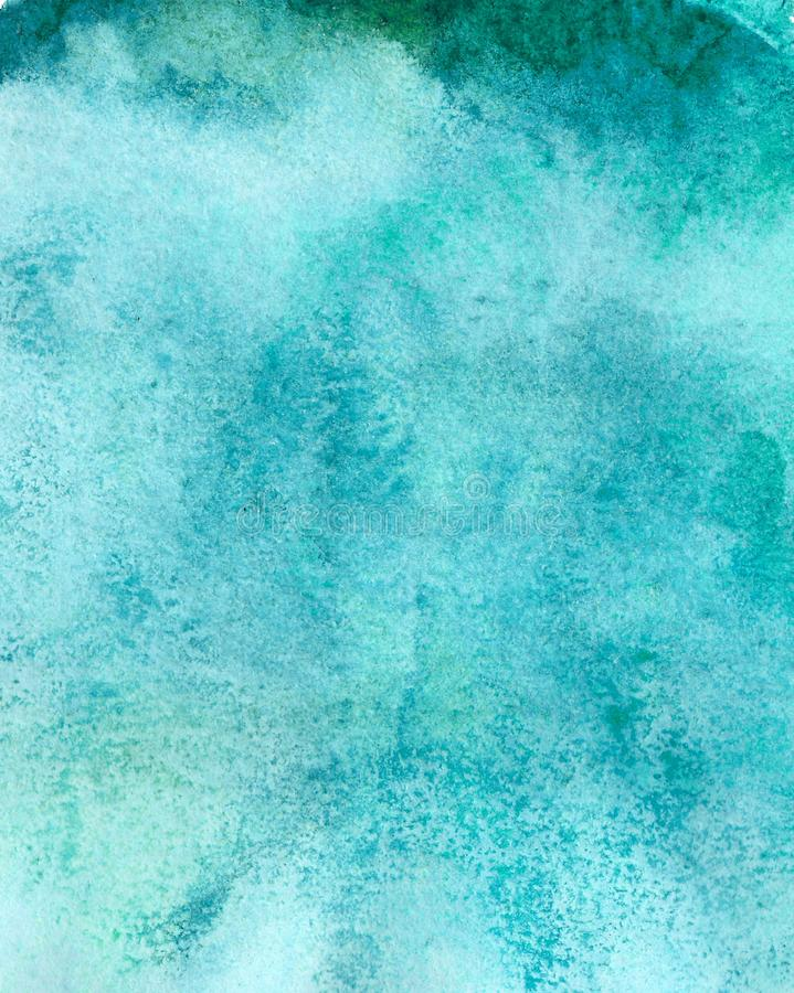 Abstract acrylic painted empty background. Blue watercolor texture. Grunge template for your design. royalty free stock photo