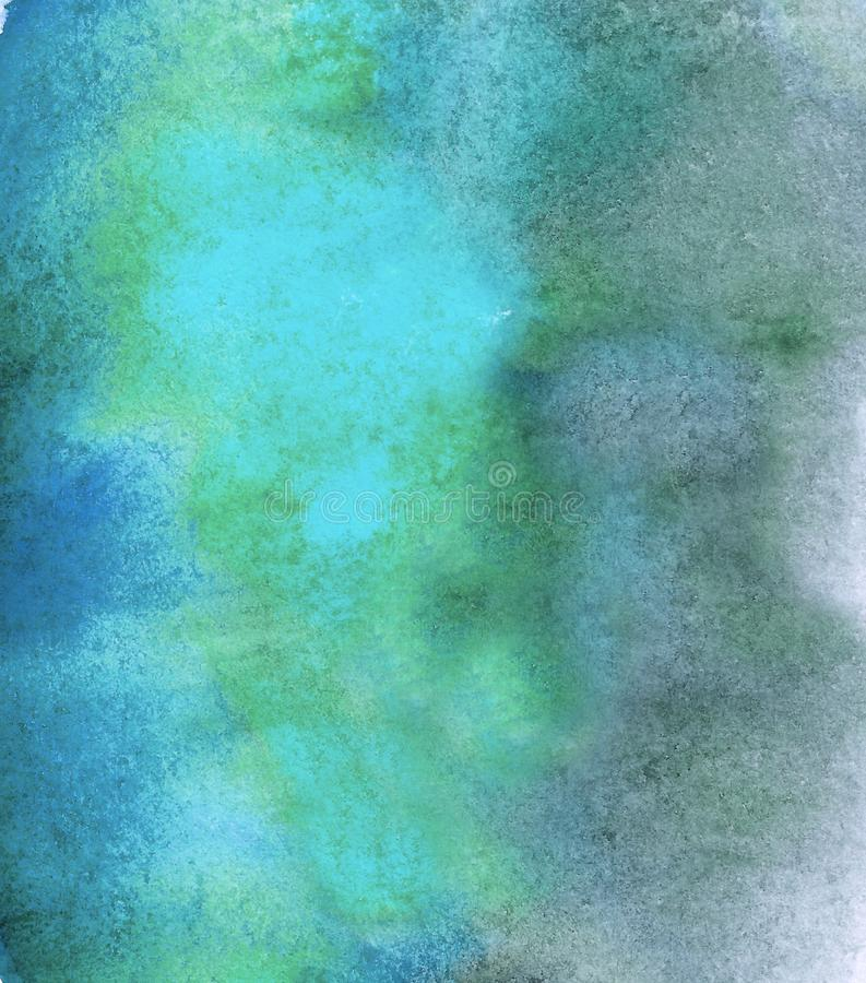 Abstract acrylic painted empty background. Blue watercolor texture. Grunge template for your design. stock photography