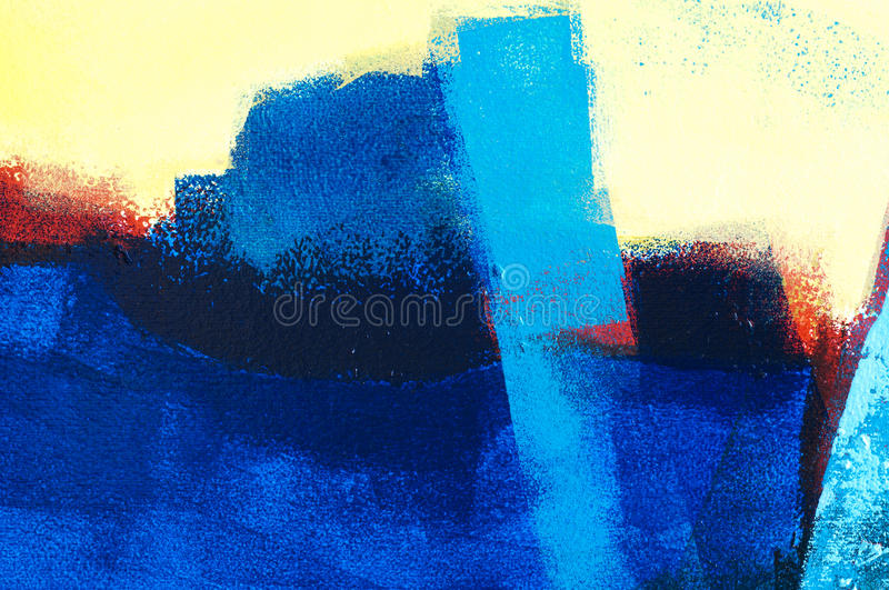 Abstract acrylic painting vector illustration