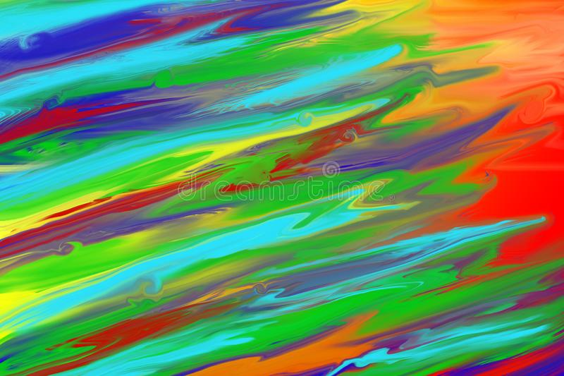Abstract Acrylic Painting of Colors vector illustration