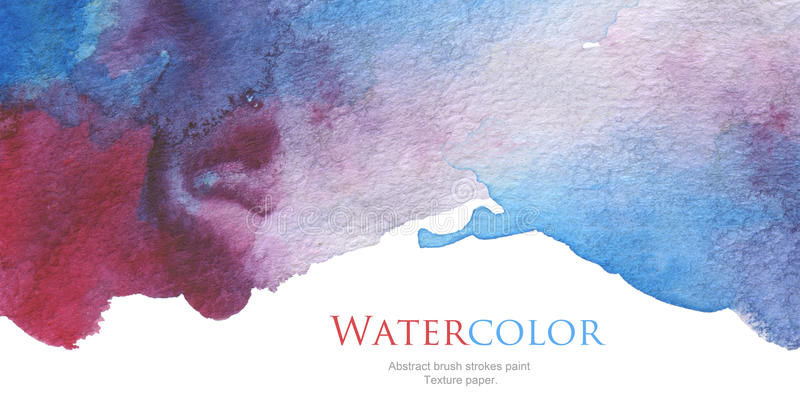 Abstract acrylic and watercolor brush strokes painted background. Texture paper stock photo