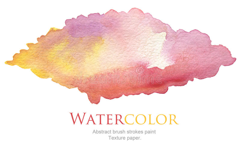 Abstract acrylic and watercolor brush strokes painted background. Texture paper royalty free stock photos